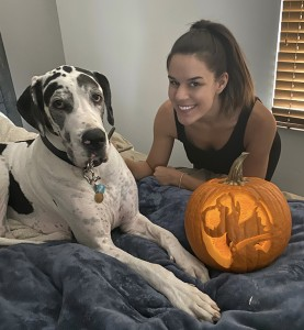 Ashley's dane pumpkin (family photo) 2019