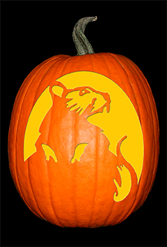 Banksy Inspired Rat Pumpkin72