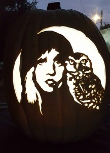 Stevie and owl carve