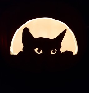 peeking cat carve
