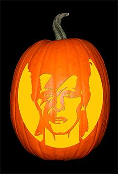 David Bowie Pumpkin