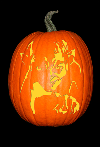 Lord of the Rings_Gollum Pumpkin