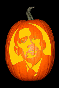 Barack Obama Pumpkin