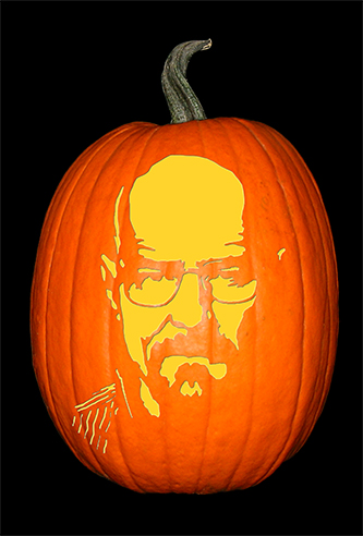 Breaking Bad_Walter_No Hat Pumpkin