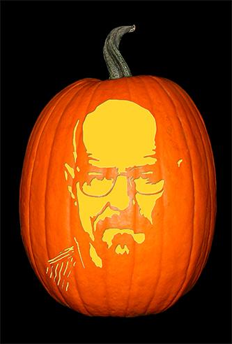 Breaking Bad_Walter_No Hat Pumpkin