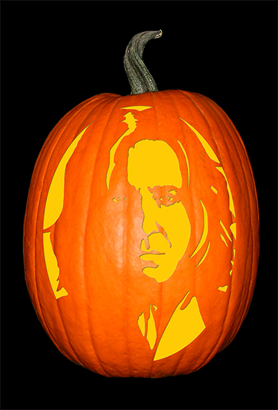 Harry potter severus snape the custom punkin stencil co for Harry potter pumpkin carving templates