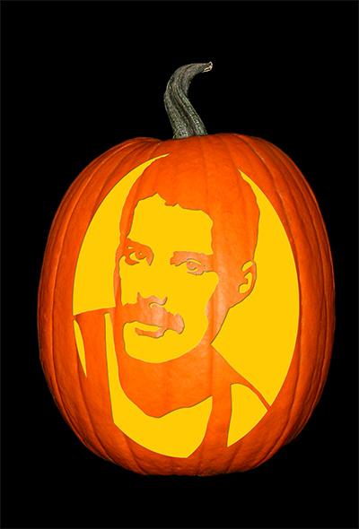 Freddie Mercury Pumpkin