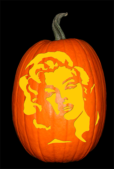 Marilyn Monroe Pumpkin