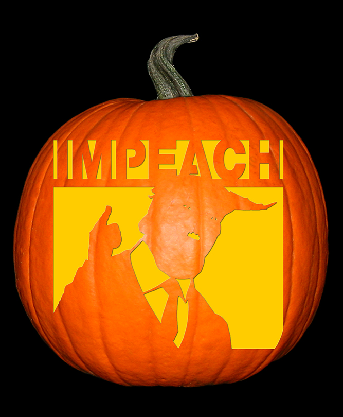 Impeach Trump Pumpkin