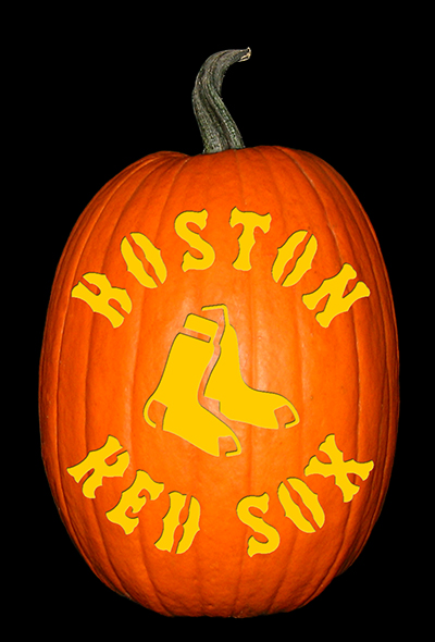Red Sox Pumpkin