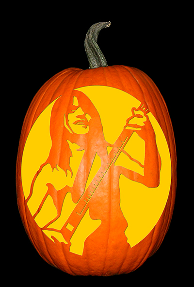 Malcolm Young Pumpkin