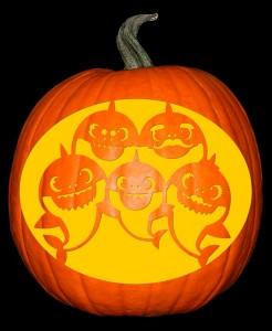 Baby Shark Family Pumpkin