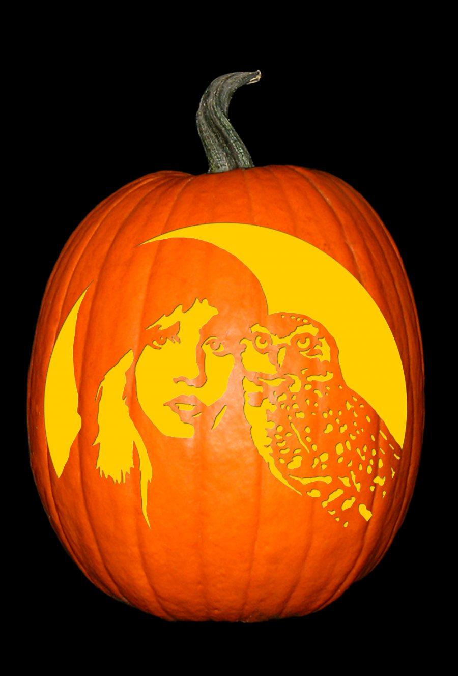 Stevie Nicks with Owl Pumpkin