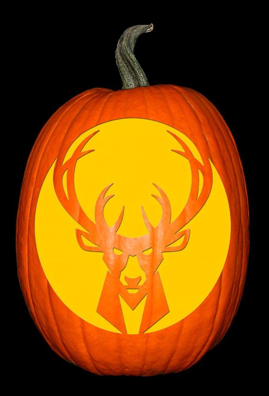 Milwaukee Bucks Pumpkin