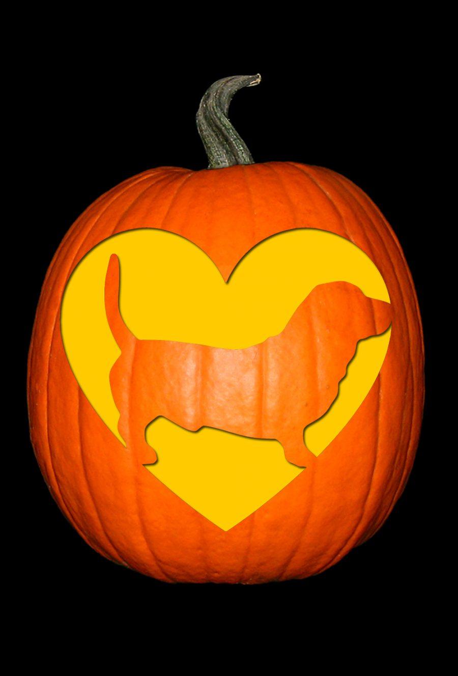 Love My Basset Hound Pumpkin